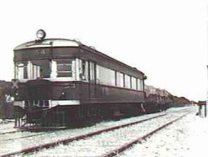 Railcar 54 at Milang Station.